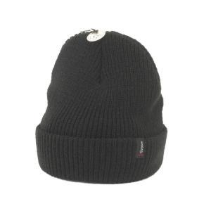 美品 BRIXTON ブリクストン ニットキャップ 00008 ヘイスト ビーニー ニット帽 USA アメリカ製 無地 ブラック 黒 F 帽子 メンズ  中古 92000708|classic