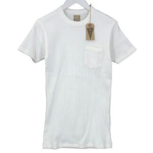 BELAFONTE ベラフォンテ 半袖Tシャツ クルーネック BF-14-028 ポケット RAGTIME DROP NEEDLE PKT T 無地 オフホワイト M メンズ  中古 92000840|classic