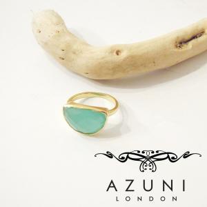 AZUNI LONDON アズニ アクアカルセドニーリング 指輪 レディース 11号 ゴールド 海外 ブランド 通販 アクセサリー キャサリン妃 classica