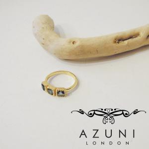 アズニ AZUNI LONDON アイオライト付きリング 指輪 レディース 13号 ゴールド 通販 おしゃれ 正規品 キャサリン妃 プレゼント|classica
