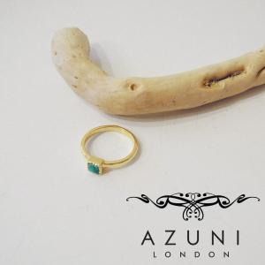 アズニ AZUNI LONDON ターコイズリング 指輪 14号 トルコ石 婦人 レディース ゴールド 通販 おしゃれ 正規品 天然石 プレゼント|classica