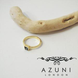 アズニ AZUNI LONDON アイオライト付きリング 指輪 レディース ゴールド 14号 正規品 おしゃれ 通販 天然石 キャサリン プレゼント|classica