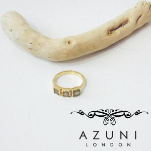 アズニ AZUNI グレームーンストーン付きリング 指輪 レディース 14号 ゴールド 天然石 通販 おしゃれ ブランド 海外 インポート 女性 婦人 グレー|classica