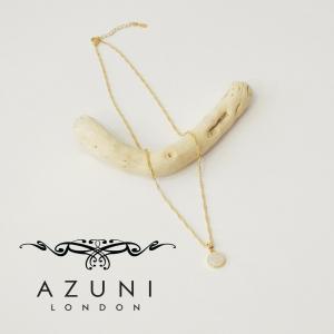 アズニロンドンAZUNI  london/ミネラルクリスタル付きチェーンネックレス 水晶 レディース 白 ホワイト ゴールド 金鍍金 プレゼント 人気 ショー地 ショート|classica