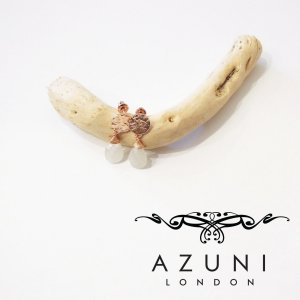 AZUNI londonアズニロンドン/ムーンストーン付きピアス キャサリン妃 王室 ローズゴールド ピンク 金 24k プレゼント おしゃれ 定形外可|classica