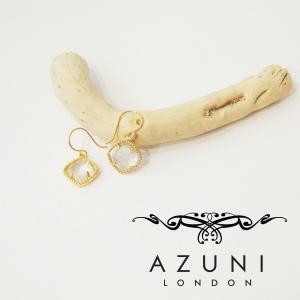AZUNI lomdonアズニロンドン/クリスタルクオーツ付きピアス レディース 水晶 18k ゴールド 金 おしゃれ フック クリア プレゼント おしゃれ 定形外可|classica