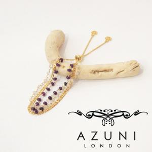 AZUNI london/アズニロンドン ルビークオーツ&ピンクカルセドニーブレスレット ゴールド 18k 金 レディース フリーサイズ イギリス製 チェーン プレゼント|classica