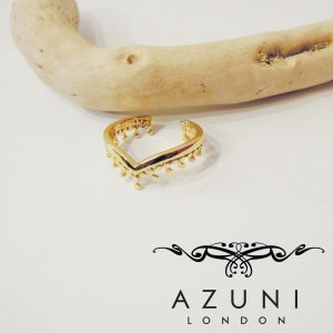 AZUNI LONDONアズニロンドン/ゴールドリング 指輪 13号 14号 レディース アズニ 女性用 金鍍金 18k おしゃれ 王冠 パーティー 通販 人気|classica