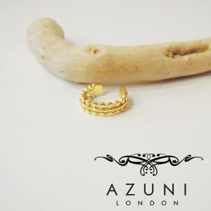 AZUNI LONDON アズニロンドン ミディリング ファランジリング レディース アズニ 女性用 ピンキー ゴールド 金鍍金 おしゃれ 通販 人気|classica