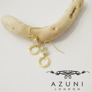 AZUNI LONDON アズニロンドン/ムーンストーンフープフックピアス レディース ゴールド 18k 人気 通販 海外ブランド キャサリン妃|classica