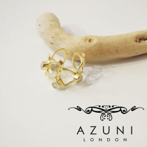 AZUNI LONDON/アズニロンドン ムーンストーン付きワイドリング レディース 10号 11号 指輪 ブランド ゴールド 18k 18金 通販 人気 女性用|classica