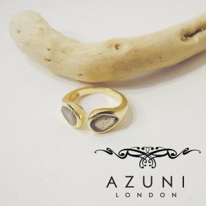 AZUNI LONDON/アズニロンドン ラブラドライトティアドロップ型リング 指輪 レディース 9号 10号 11号 通販 人気 18k 18金 おしゃれ フリーサイズ|classica