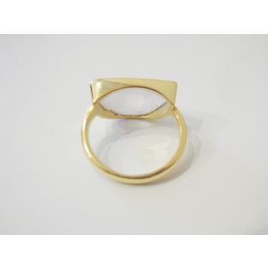 AZUNI LONDON/アズニロンドン ムーンストーンリング 指輪 10号 レディース 通販 アズニ 海外 ブランド  乳白色 18k ゴールドハーフムーン classica 05