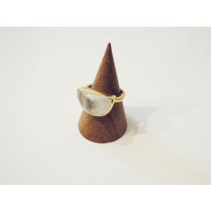 AZUNI LONDON/アズニロンドン ムーンストーンリング 指輪 10号 レディース 通販 アズニ 海外 ブランド  乳白色 18k ゴールドハーフムーン classica 06