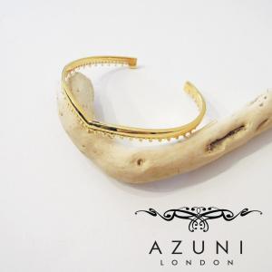 AZUNI LONDON/アズニロンドン ウェーブゴールドバングル レディース ブレスレット アズニ azuni ゴールド 通販 人気 海外 ブランド 18k|classica