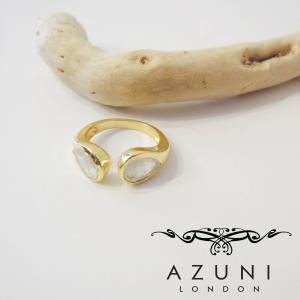 AZUNI LONDONアズニロンドン ムーンストーンリング 指輪 レディース azuni アズニ 10号 11号 ゴールド フリーサイズ 通販 人気 ティアドロップ型|classica