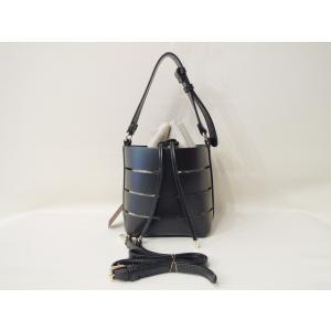フランス 巾着型2WAYショルダーミニバッグ レディース 黒 ブラック ポシェット 小さめ 通販 おしゃれ 合皮 かばん 鞄 大人 きれいめ|classica|02