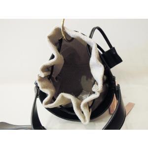 フランス 巾着型2WAYショルダーミニバッグ レディース 黒 ブラック ポシェット 小さめ 通販 おしゃれ 合皮 かばん 鞄 大人 きれいめ|classica|06