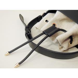 フランス 巾着型2WAYショルダーミニバッグ レディース 黒 ブラック ポシェット 小さめ 通販 おしゃれ 合皮 かばん 鞄 大人 きれいめ|classica|07