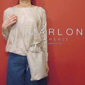 MARLON 2WAYミニトートバッグ レディース グレー ショルダーバッグ イタリア製 無地 本革 レザー 通販 おしゃれ マルロン 婦人 かばん classica