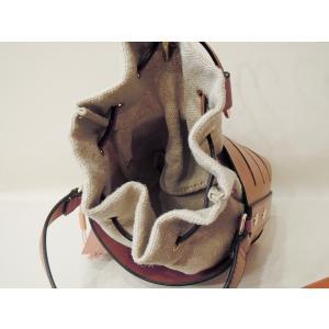 フランス 巾着型2WAYショルダーミニバッグ レディース 茶色 ブラウン 合皮 かばん 鞄 小さめ 通販 おしゃれ ポシェット 無地 大人 classica 05