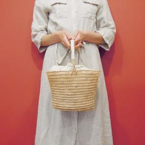 TARANGO 巾着付きワンハンドルかごバッグ レディース 籠 ホワイト 白 通販 おしゃれ かばん 春 夏 バスケット フェアトレード classica