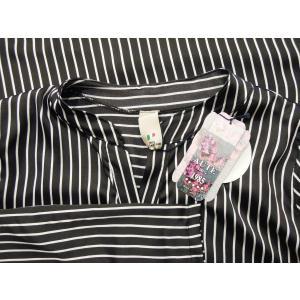 イタリア製 ストライプ柄サテン地プルオーバービッグシャツ レディース ブラック 黒 オーバーシャツ 9号 11号 ゆったり リラックス 通販|classica|08
