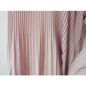 イタリア製 プリーツ加工プルオーバー長袖トップス レディース 春 ピンク シフォン ベルスリーブ 無地 おしゃれ フレア袖 薄手 パステル|classica|07