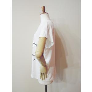 イタリア製 ロゴTシャツ レディース ホワイト 白 白T 半袖 フレンチスリーブ 9号 おしゃれ カジュアル 女性 婦人 シンプル 通販|classica|03