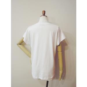 イタリア製 ロゴTシャツ レディース ホワイト 白 白T 半袖 フレンチスリーブ 9号 おしゃれ カジュアル 女性 婦人 シンプル 通販|classica|04