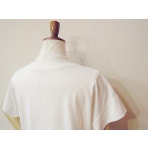 イタリア製 ロゴTシャツ レディース ホワイト 白 白T 半袖 フレンチスリーブ 9号 おしゃれ カジュアル 女性 婦人 シンプル 通販|classica|07