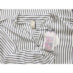 イタリア製 ストライプ柄サテン地プルオーバービッグシャツ レディース ホワイト 白 オーバーシャツ 9号 11号 ゆったり リラックス 通販 classica 08