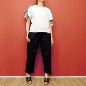 イタリア製 リボン付き半袖Tシャツ 白 白Tシャツ レディース ホワイト 春 夏 9号 カットソー おしゃれ 通販 カジュアル 無地 シンプル|classica