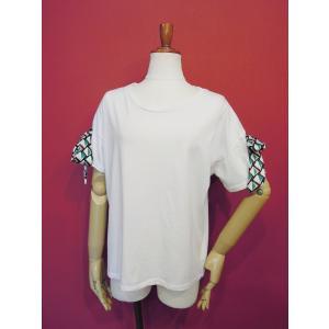 イタリア製 リボン付き半袖Tシャツ 白 白Tシャツ レディース ホワイト 春 夏 9号 カットソー おしゃれ 通販 カジュアル 無地 シンプル|classica|02