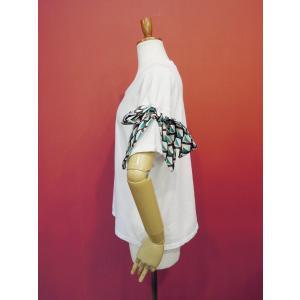 イタリア製 リボン付き半袖Tシャツ 白 白Tシャツ レディース ホワイト 春 夏 9号 カットソー おしゃれ 通販 カジュアル 無地 シンプル|classica|03
