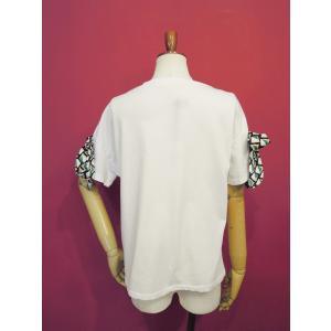 イタリア製 リボン付き半袖Tシャツ 白 白Tシャツ レディース ホワイト 春 夏 9号 カットソー おしゃれ 通販 カジュアル 無地 シンプル|classica|04