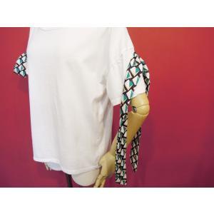 イタリア製 リボン付き半袖Tシャツ 白 白Tシャツ レディース ホワイト 春 夏 9号 カットソー おしゃれ 通販 カジュアル 無地 シンプル|classica|06
