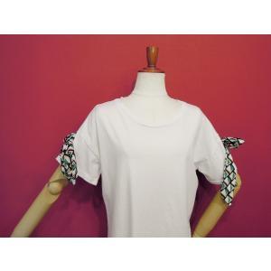 イタリア製 リボン付き半袖Tシャツ 白 白Tシャツ レディース ホワイト 春 夏 9号 カットソー おしゃれ 通販 カジュアル 無地 シンプル|classica|07