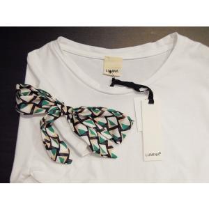イタリア製 リボン付き半袖Tシャツ 白 白Tシャツ レディース ホワイト 春 夏 9号 カットソー おしゃれ 通販 カジュアル 無地 シンプル|classica|08