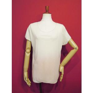 イタリア製 ラメ入りグラデーションTシャツ レディース タイダイ ホワイト 白 ピンク 9号 11号 カットソー 夏 春 白T おしゃれ シンプル 通販 classica 02