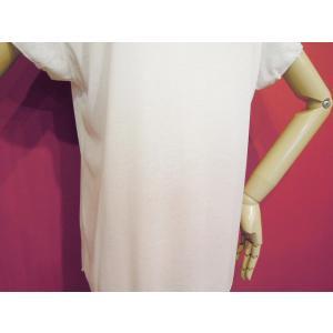 イタリア製 ラメ入りグラデーションTシャツ レディース タイダイ ホワイト 白 ピンク 9号 11号 カットソー 夏 春 白T おしゃれ シンプル 通販 classica 06