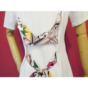 イタリア製 バックレースアップ半袖ロゴTシャツ レディース 白Tシャツ ホワイト 白 カットソー リボン おしゃれ 30代 40代 カジュアル|classica|07
