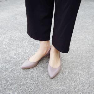 POPSポップス/イタリア製 セパレートパンプス 靴 レディース 23.5cm 24cm 24.5cm 25cm 36 37 38 レザー 本革 ライラックグレー ローヒール|classica