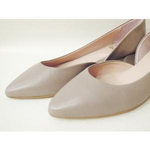 POPSポップス/イタリア製 セパレートパンプス 靴 レディース 23.5cm 24cm 24.5cm 25cm 36 37 38 レザー 本革 ライラックグレー ローヒール|classica|07