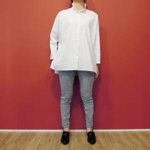 イタリア製 ビッグシルエットホワイトシャツ レディース 白シャツ 春 夏 ホワイト 11号 L ゆったり 大きめ 通販 無地 おしゃれ ナチュラル classica