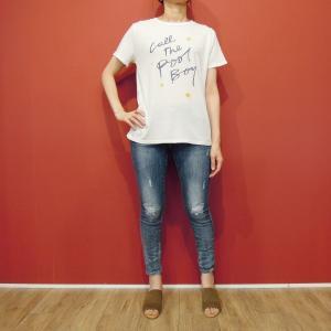 メキシコ製 M//C メッセージTシャツ レディース 半袖 カットソー ロゴT 白 ホワイト ロックT 女性 通販 おしゃれ 9号 11号 丸首|classica