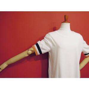 アメリカ ラインスリーブTシャツ 半袖 カットソー ホワイト 白 レディース 9号 M 丸首 カジュアル 女性 通販 おしゃれ 白T classica 05
