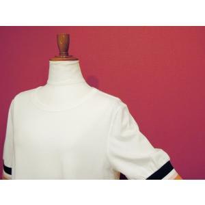 アメリカ ラインスリーブTシャツ 半袖 カットソー ホワイト 白 レディース 9号 M 丸首 カジュアル 女性 通販 おしゃれ 白T classica 06