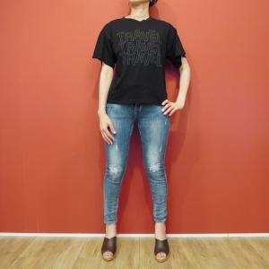 メキシコ製 M//C ロゴTシャツ レディース 半袖 カットソー 黒 ブラック ロゴT 9号 M ロックT フェス イベント 大人 通販 文字|classica