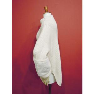 イタリア フェイクファー付きローゲージニットセーター レディース 白 ホワイト 9号 11号 ゆったり おしゃれ 無地 ウール 通販|classica|04